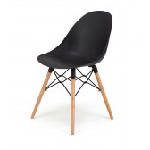 Seline Series Modern Accent Dining Chair with Beech Wood Legs - Great for Home, Office, Designer Task Chair