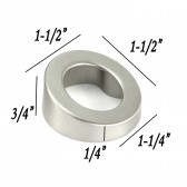 1-1/2 inch Stainless Steel Round Shape Cabinet Pull Knob in Brushed Nickel Finish