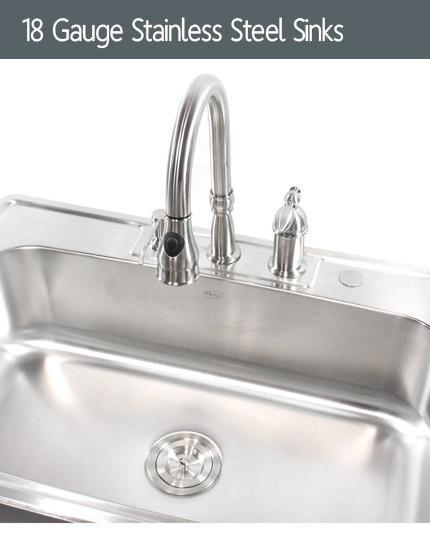 18 Gauge Kitchen Sinks Stainless Steel