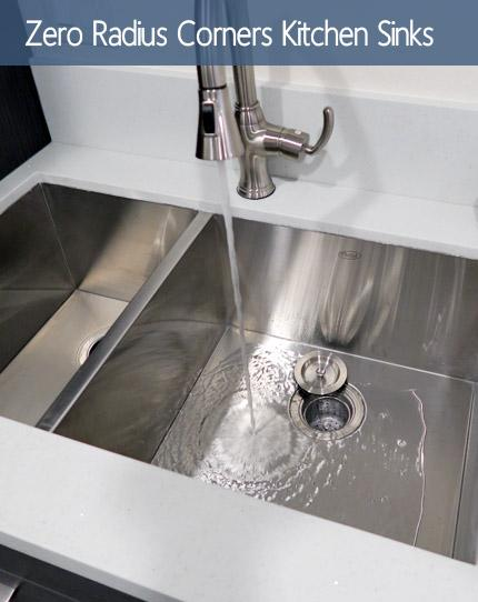 Zero Radius Design Kitchen Sinks