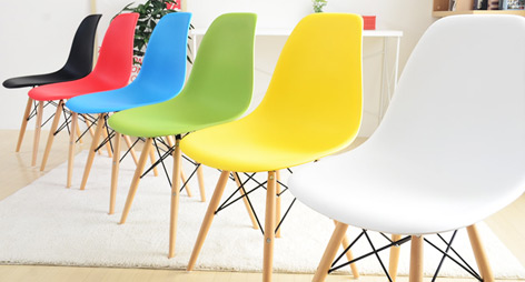 Eames Style DSW Dining Chairs with Beech Wood Legs