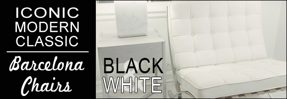 Barcelona Chair in Black or White