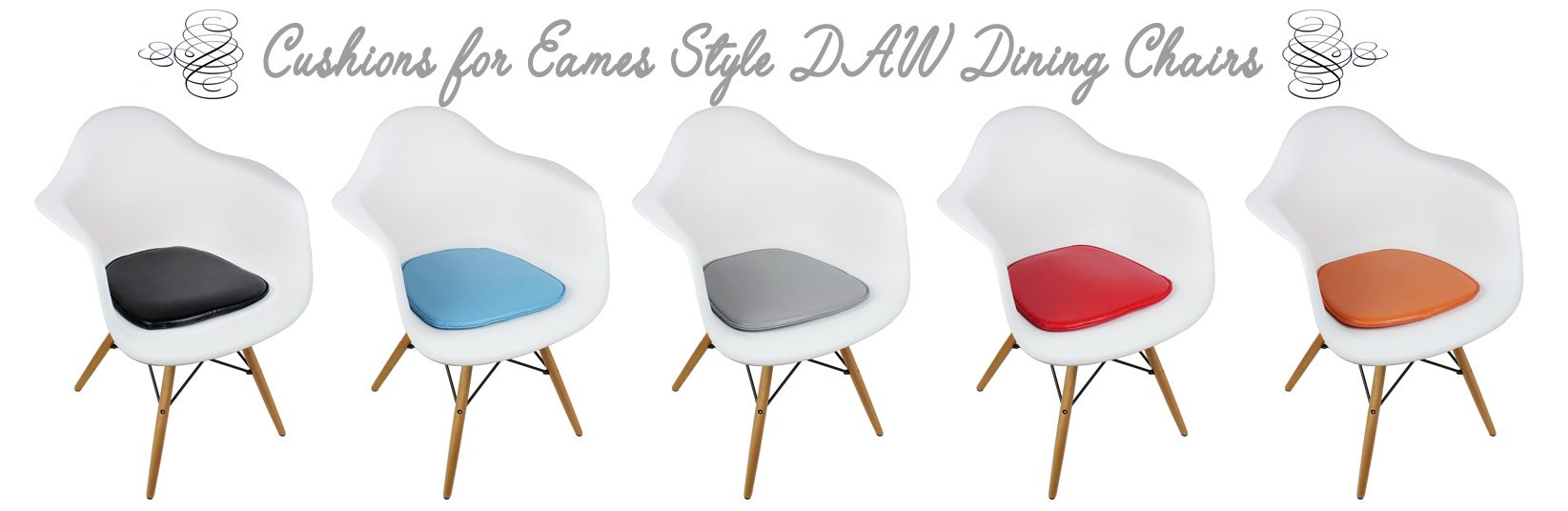 Cushions for DAW Eames Dining and Accent Chairs
