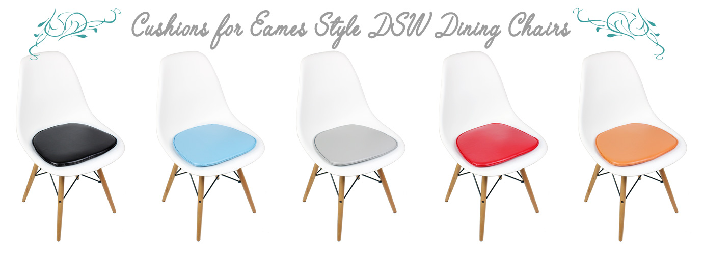 Cushions for DSW Eames Dining and Accent Chairs